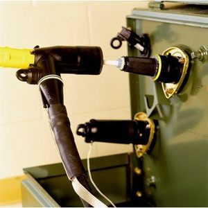 """3M LBC-1/0 Loadbreak Elbow Connector, Barrel Diameter: 5/8"""", Wire: 1/0 AWG, 200A"""