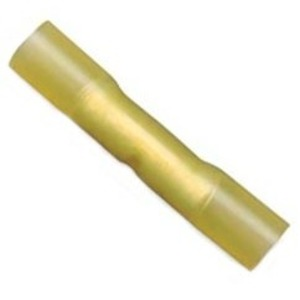 3M MH10BCX Heat Shrink Butt Connector, 12 - 10 AWG, Yellow, Pack of 25