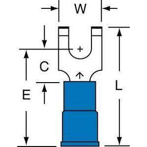 3M MNG14-6FFBK 3m Mng14-6ffbk Nylon Insulated W/in