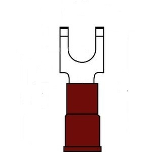 3M MNG18-8FFBX Block Fork Terminal, Type: Flanged, Nylon Insulated, 22 - 18 AWG