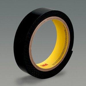 3M SJ-3527N-LOOP-BLACK-1 Loop Fastener, Nylon, Black, High Performance Rubber Adhesive