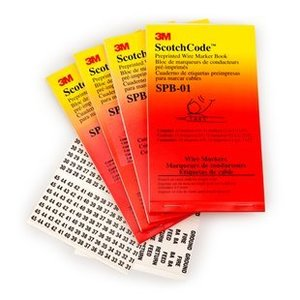 3M SPB-16-LC1 Wire Marker Book, (5) 68 Load Center Legends, (110) Write-On Markers