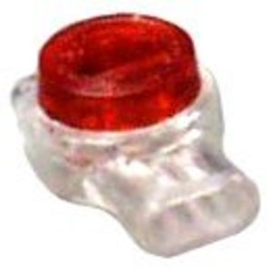 3M UR(BX) Butt Connector, 26 - 19 AWG, 3-Wire, Gel-Filled Polycarbonate, Moisture Resistant, 100/PK
