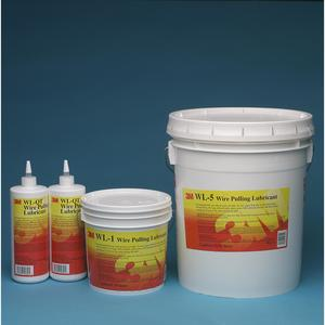 3M WL-1 Wire Pulling Lubricant Gel, 1-Gal Pail, Clear