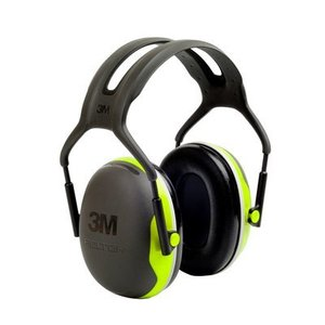 3M X4A-EA Black/Green Peltor Folding Earmuff, NRR 27 dB