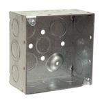 "Hubbell-Raco 232 4"" Square Box, Welded, Metallic, 2-1/8"" Deep 
