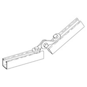 "Cooper B-Line B335-1ZN Two Hole Adjustable Hinge, 2-13/16"" Hinge, Steel/Zinc Plated"