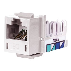 Hubbell-Premise HXJ6W Snap In Connector, NEXTSPEED, Xcelerator, Cat 6, White