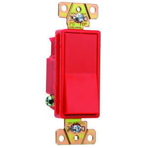 Pass & Seymour 2621-RED P&S 2621-RED SW DEC 1P 20A 120/277V