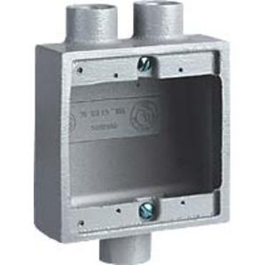 "Hubbell-Killark 2FSD-2 FS Device Box Extension, 2-Gang, Type FS, 1"", Aluminum"