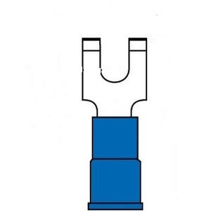 3M MNG14-8FFBX Block Fork Terminal, Type: Flanged, Nylon Insulated, 16 - 14 AWG