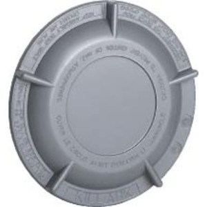 "Hubbell-Killark GRM-BC Conduit Outlet Box Cover, Diameter: 5-9/32"", Aluminum"