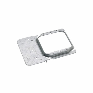 """Cooper B-Line BB45-12 Box Support/Cover Plate Mounting Bracket, 2-Gang, 3/4"""" Raised"""