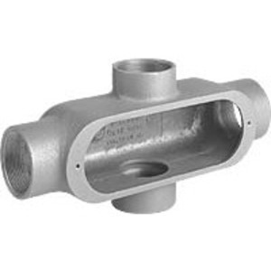 "Hubbell-Killark OX-6 Conduit Body, Type: X, Size: 2"", Duraloy 5 Series, Aluminum"
