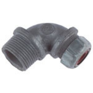 "Thomas & Betts 2278 1-1/4"" 90° Liquidtight Cord Connector, Iron, 1.065-1.205"""