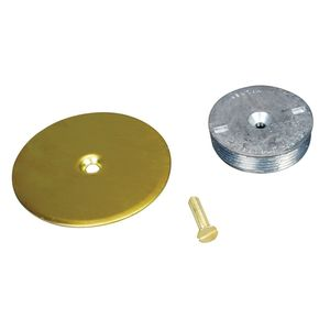 """Wiremold 1045B Blanking Top Plate, Diameter: 3-1/2"""", For use with: 1"""" IPS, Brass"""
