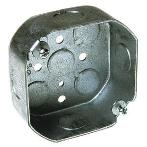 "Appleton 4O-SPL 4"" Octagon Box, 1-1/2 Deep, 1/2"" & 3/4"" KOs, Steel"
