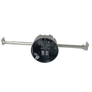 """Cantex EZ20CHG Ceiling Box With Adjustable Bar Hanger, Depth: 2-1/4"""", Non-Metallic"""