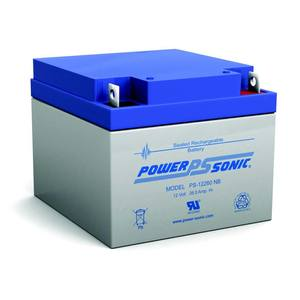 Power-Sonic PS-12260NB Rechargeable Sealed Lead Acid Battery, 12V, 26Ah