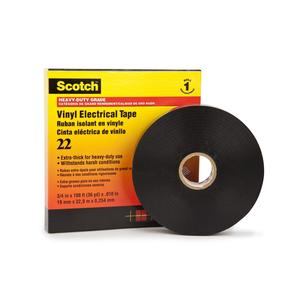 "3M 22-2X36YD Heavy Duty Vinyl Electric Tape, 2"" x 36 Yards"