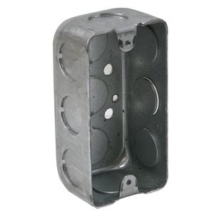 "Appleton 4SSLS-1/2 Handy Box, 1-1/2"" Deep, 1/2"" KOs, Drawn, Metallic"