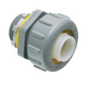 "Arlington NMLT75BL Liquidtight Connector, 3/4"", Straight, Black, Non-Metallic"