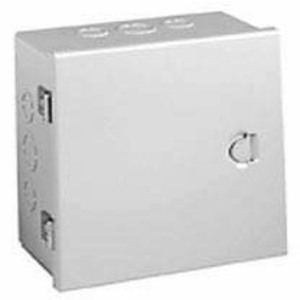 "Hubbell-Wiegmann A121204 Enclosure, Hinged Cover, Type 1, 12"" x 12"" x 4"", Steel/Gray"