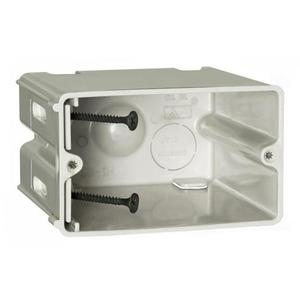 "Allied Moulded SB-1H Switch/Outlet Box, 1-Gang, Adjustable, Depth: 3-9/16"", Non-Metallic"