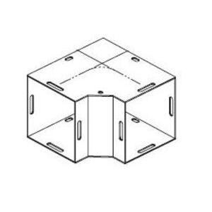 """Hubbell-Wiegmann L060690 Wireway 90° Elbow, Type 1, Combo Opening, 6"""" x 6"""", Steel, Gray"""