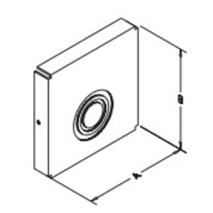 "Hubbell-Wiegmann E1010NK Wireway Closure Plate, 10"" x 10"", Type 1, Gray, No KOs"