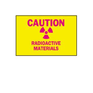 Brady 25284 RADIATION & LASER SIGN