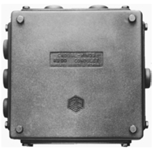 Cooper Crouse-Hinds RSP1 1/2 1 HUB PLATE 8 1/2 X 4