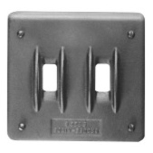 Cooper Crouse-Hinds S322G Device Cover, 2-Gang, Feraloy Iron Alloy