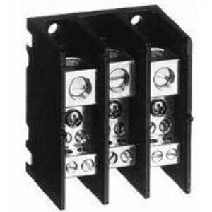 Allen-Bradley 1492-PDM3141 Distribution Block, Mini, 115A, 3P, 2 - 14 AWG, Aluminum