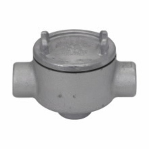 """Cooper Crouse-Hinds GUAD36SA Conduit Outlet Box, Type GUAD, (3) 1"""" Hubs, Aluminum"""