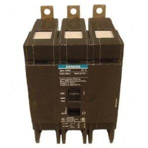 Siemens BQD350 Breaker, Bolt On, 50A, 3P, 480Y/277VAC, Type BQD, 14 kAIC