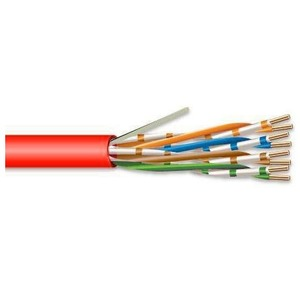Superior Essex 51-240-95 4 Pair 24 AWG CMR/CMX CAT5 - Red