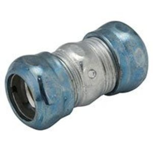 "Hubbell-Raco 2922RT EMT Compression Coupling, 1/2"", Raintight, Steel"