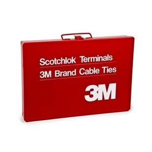 3M RED-TERMINAL-BOX Metal Case, Plastic Insert Tray, Red
