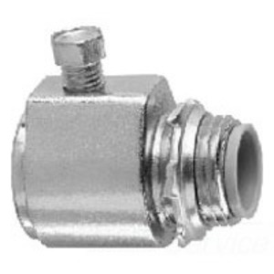 """Cooper Crouse-Hinds 150P Rigid Set Screw Connector, Straight, Size: 1/2"""", Malleable Iron"""