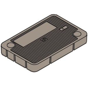 """Oldcastle Precast 1020030 Pull Box Cover - Marked """"Electric"""""""