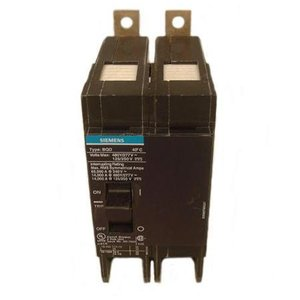 Siemens BQD220 Breaker, Bolt On, 20A, 2P, 480Y/277 VAC, 125/250 VDC, BQD, 14 kAIC
