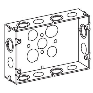 EGS 2G5075S 2GANG BOX W/1/2&3/4 KO
