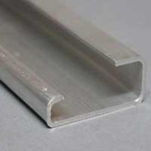 Weidmuller 0169300000 Mounting Rail, Aluminum, 15mm High x 2 m Long