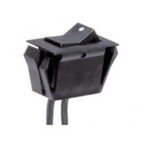Satco 80-1947 On-Off Phenolic Rocker Switch, Black