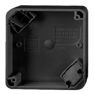 Hubbell-Wiring Kellems HBL4PBBK 4-PLEX PORT BOX, BK