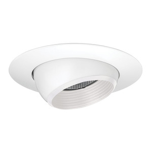 "Juno Lighting 208N-WWH Adjustable Eyeball Trim, 5"", PAR20, White Baffle/White Trim"