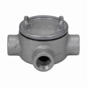 """Cooper Crouse-Hinds GUAT37 Conduit Outlet Box, Type GUAT, (3) 1"""" Hubs, Malleable Iron"""