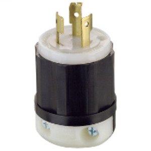 Leviton 9965-C Locking Plug, Non-NEMA, 20A, 125/250V, 3P3W