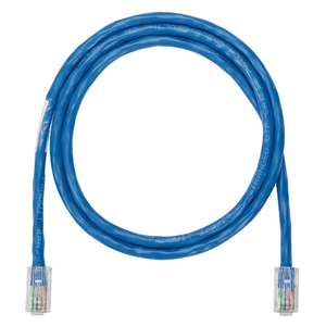 Panduit NK5EPC3BUY Patch Cord, Copper, Modular Plugs, Cat 5e, 24 AWG, Blue, 3' Length